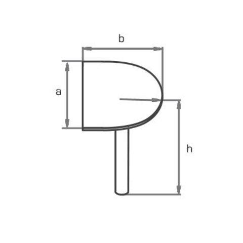Стол приставной торцевой закругленный на металлической опоре МОНО-ЛЮКС