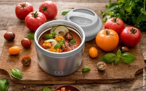 Термос для еды mb element 550 мл контейнер ланч-бокс для горячего и супа, silver серебристый
