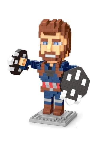 Конструктор Wisehawk & LNO Капитан Америка 387 деталей NO. 2572 Captain America Gift Series