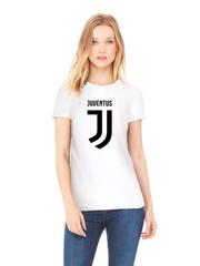 Футболка с принтом FC Juventus (ФК Ювентус) белая w002
