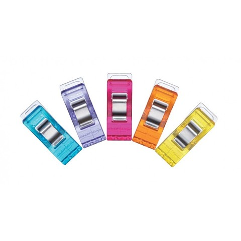 Клипсы для ткани Clover разноцветные 50 шт