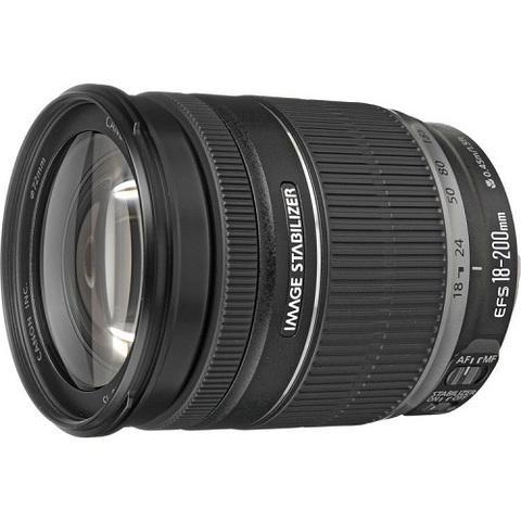 Объектив Canon EF-S 18-200mm f/3.5-5.6 IS Black для Canon