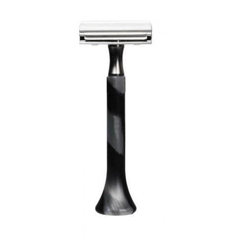 Станок для бритья Erbe с двумя лезвиями, цвет хром/черный