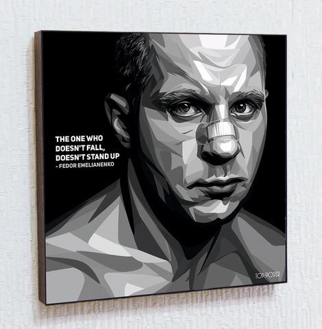 Картина постер Федор Емельяненко в стиле ПОП-АРТ