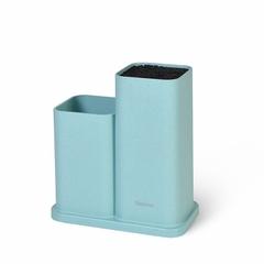 2873 FISSMAN Подставка с двумя отделениями 10x10x23+10x10х17см, цвет ТИФФАНИ (пластик)