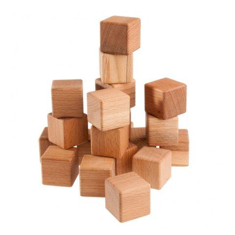 Кубики буковые 20 шт