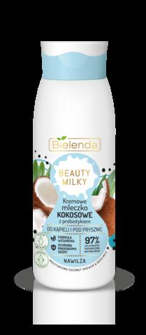 BIELENDA BEAUTY MILKY Кокосовое кремовое молочко для душа с пребиотиком 400мл