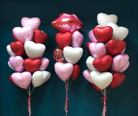 Сет воздушных шаров Губки и сердца