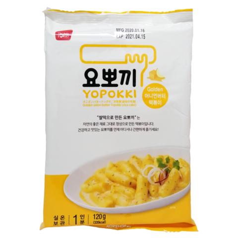 Рисовые клёцки токпокки Young Poong Golden Onion Butter Topokki со сливочно-луковым соусом 240 гр