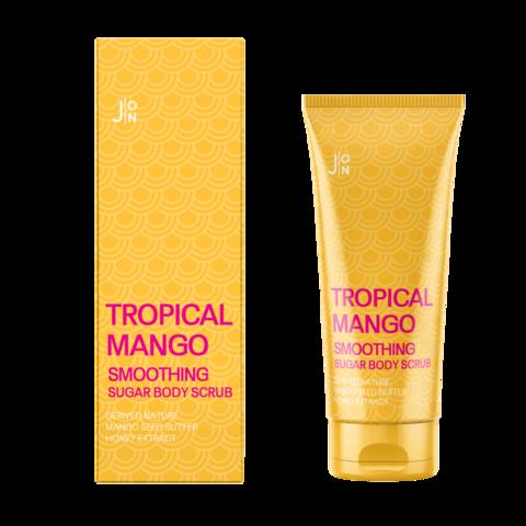 J:On Tropical Mango Smoothing Sugar Body Scrub Скраб для тела с тропическими фруктами