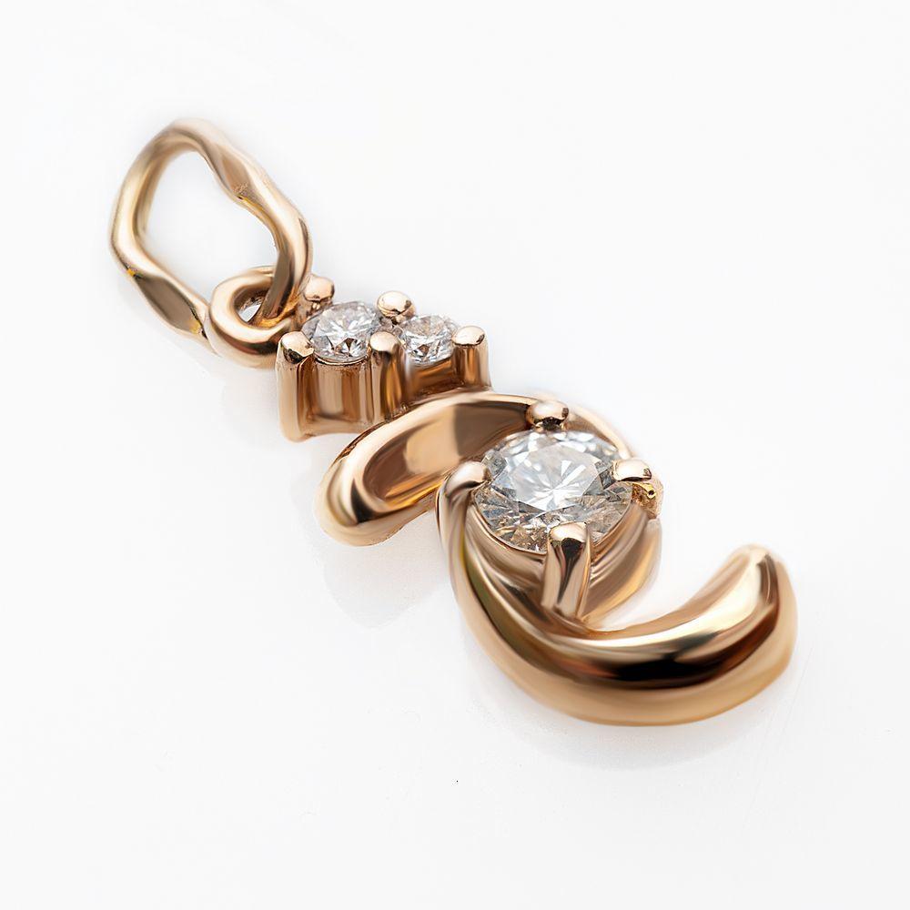 Золотая подвеска с бриллиантами