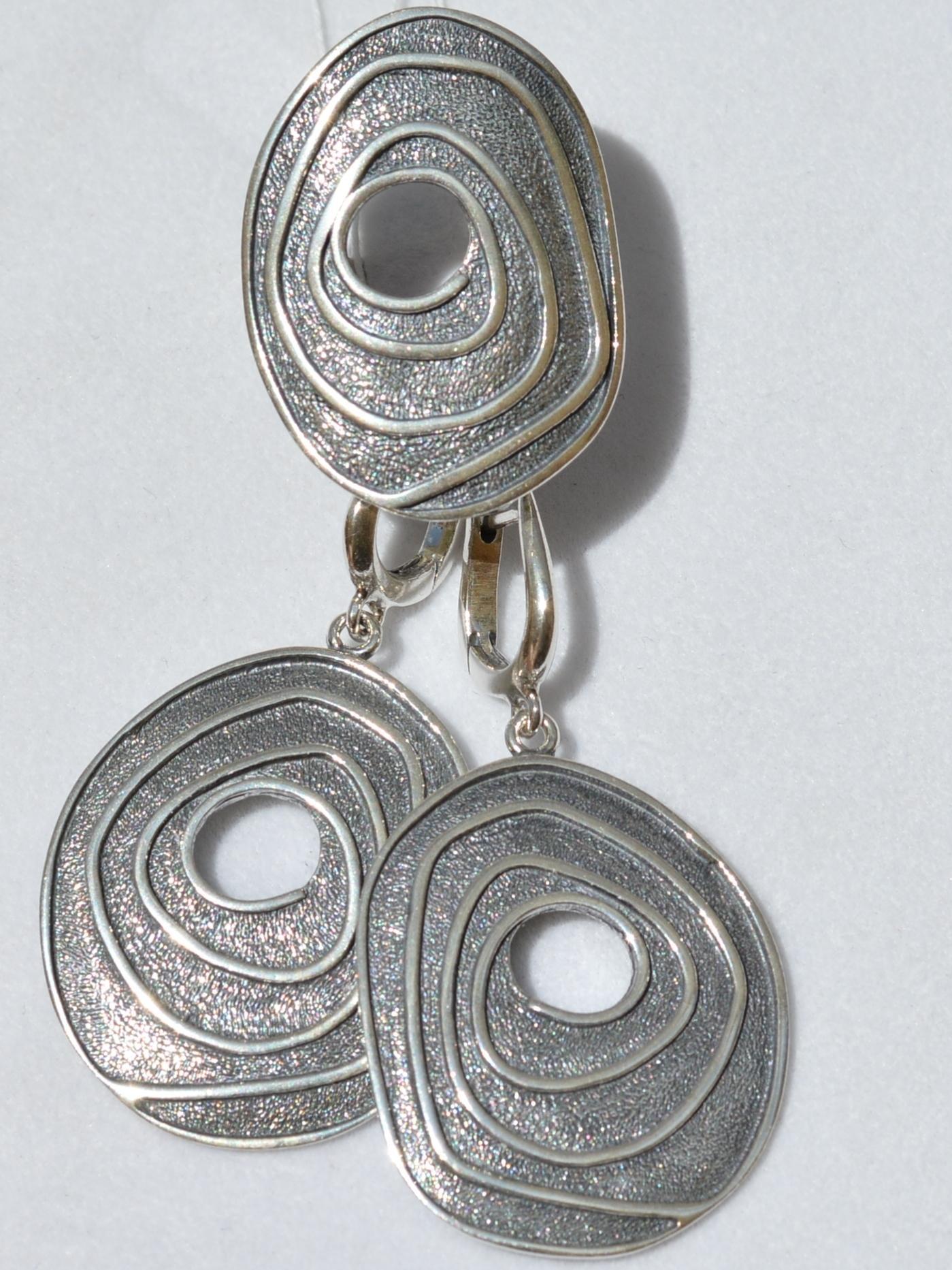 Мебиус (кольцо + серьги из серебра)