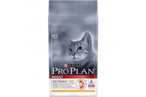 Сухой корм для взрослых кошек Purina Pro Plan Adult, курица 10кг.