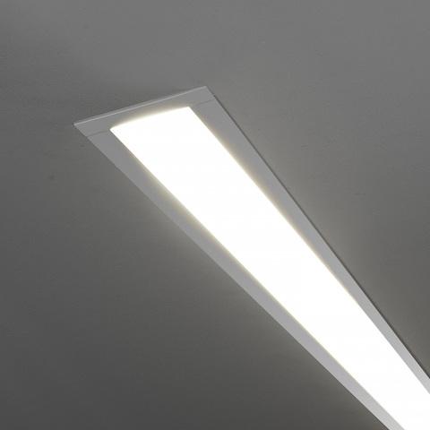 Линейный светодиодный встраиваемый светильник 53см 10Вт 4200К матовое серебро 101-300-53