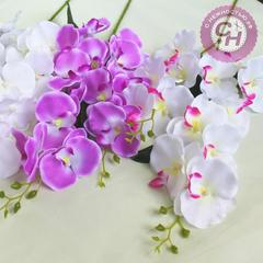 Орхидея искусственная, тройная ветка 86 см.