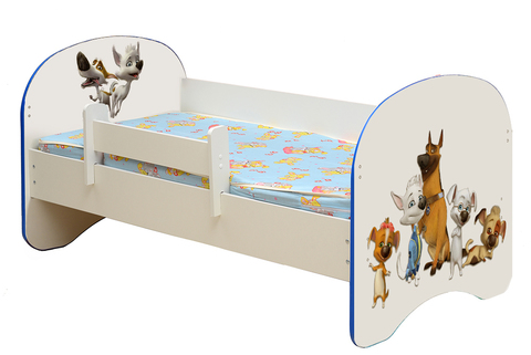 Кровать детская с фотопечатью Белка и Стрелка 001