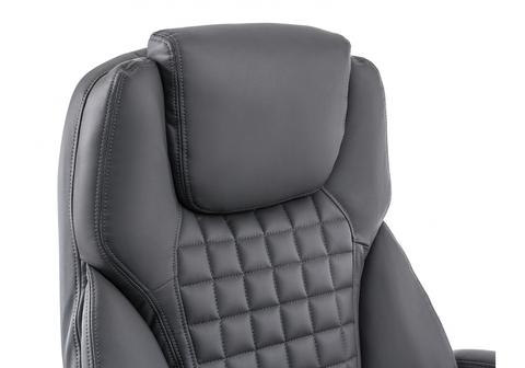 Офисное кресло для персонала и руководителя Компьютерное Herd темно-серое 69*69*136 Хромированный металл /Серый