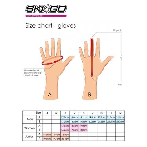 Картинка перчатки лыжные Skigo   - 2