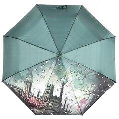 Зонт женский, город с каплями, Planet PL-154-4