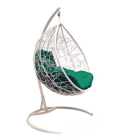 Кресло подвесное Lagos white/green