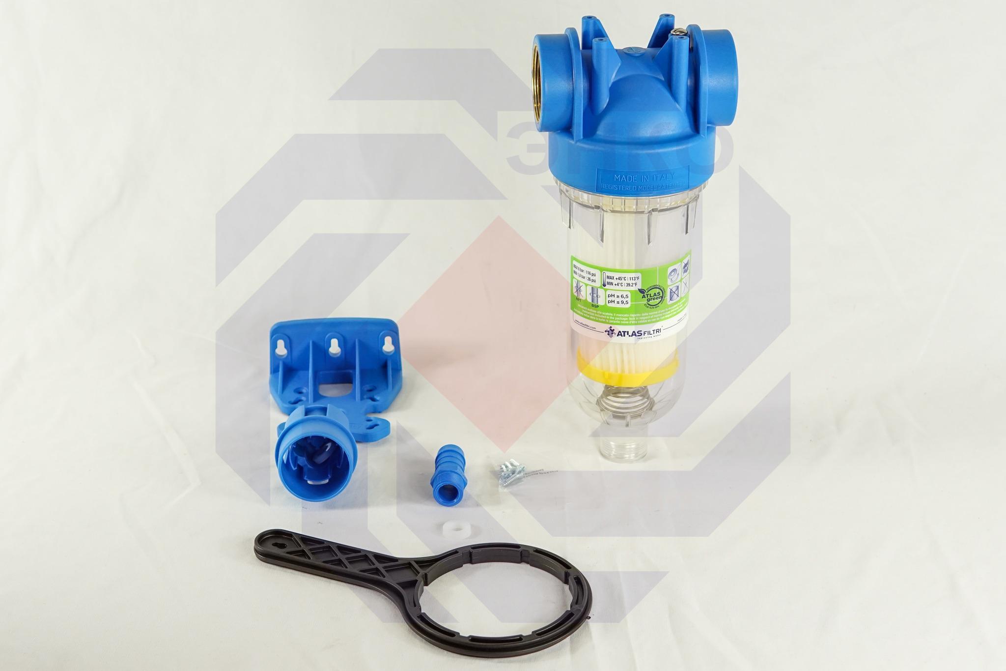 Фильтр для механической очистки самопромывающийся ATLAS HYDRA RSH 50 микрон 1½
