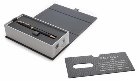Parker Sonnet Core - Matte Black GT, шариковая ручка, M, BL