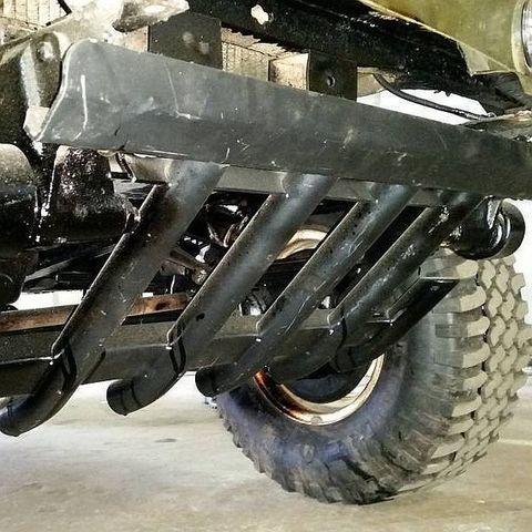 Установка защиты рулевых тяг УАЗ Хантер