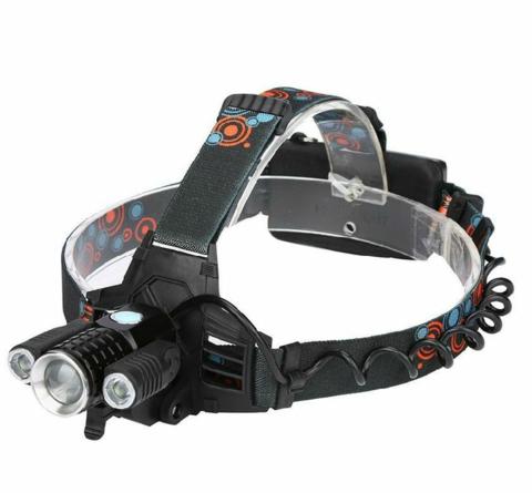 Налобный фонарь светодиодный на аккумуляторах W-601 с зумом