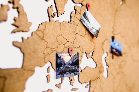 Карта мира Wall Decoration Brown 130 x 78 cm