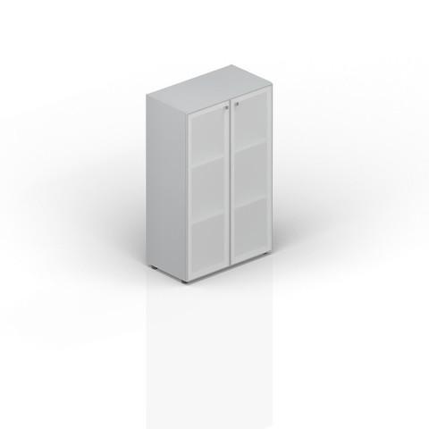 Шкаф средний со стеклянными дверцами