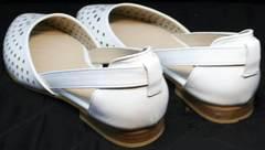 Белые женские балетки Evromoda 286.85 Summer White.