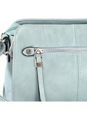 Голубая сумка мягкой формы на длинной ручке