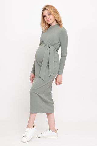 Платье для беременных и кормящих 12857 шалфей