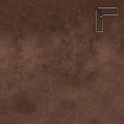 Interbau - Nature Art, Umbra braun/Кофейный, цвет 124 - Клинкерный плинтус ступени левый