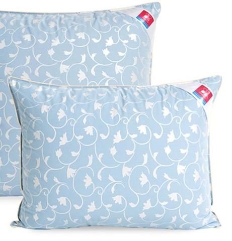 Подушка пухо-перьевая Камелия  50x70 голубой и шампань