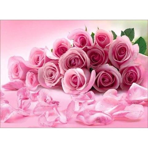 Розовые розы 268x196 см