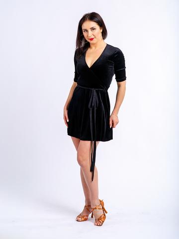 Платье-халат короткий из бархата