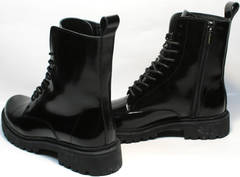 Зимние теплые ботинки на молнии женские Ari Andano 740 All Black.