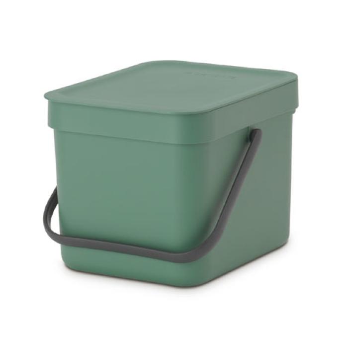 Встраиваемое мусорное ведро Sort & Go (6 л), Темно-зеленый, арт. 129841 - фото 1