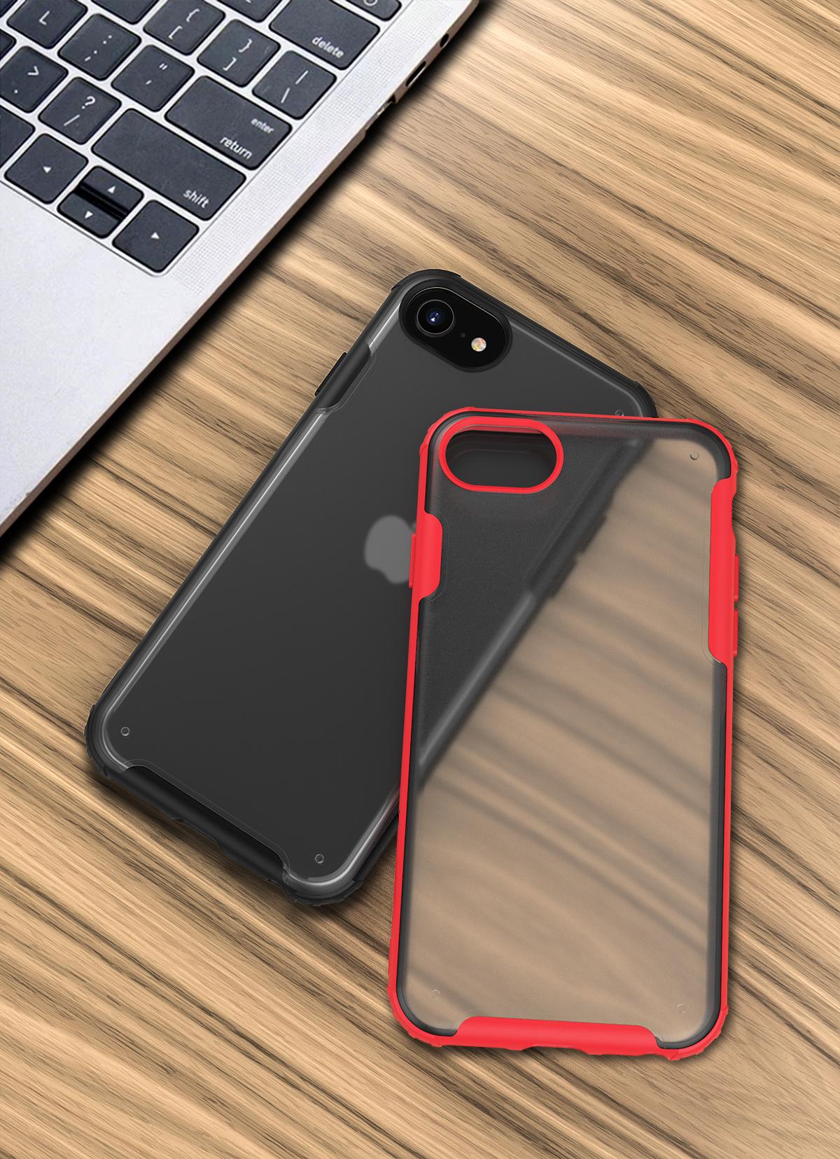 Противоударный чехол на iPhone SE (2020), 7 и 8 с красными рамками, серии Ultra Hybrid от Caseport
