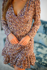 Короткое шифоновое платье с длинным рукавом магазин