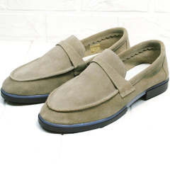 Женские лоферы туфли без каблука Osso 2668 Beige.