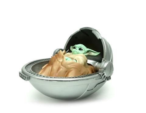 Фигурка Baby Yoda cradle,  Малыш Йода в колыбели (9.5см)