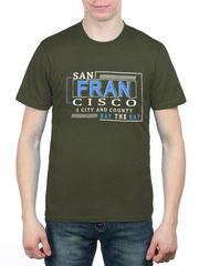 461493-13 футболка мужская, зеленая