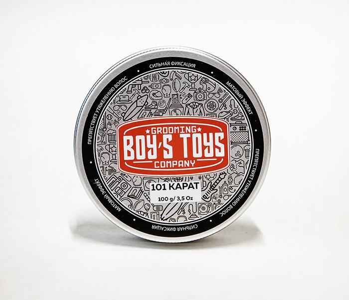 CARE161 Паста для укладки волос Boy's Toys «101 КАРАТ» (100 гр) фото 02