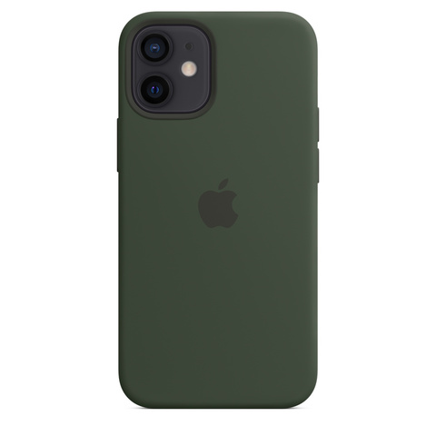 Apple Silicone Case на iPhone 12 Mini (Кипрский зеленый)