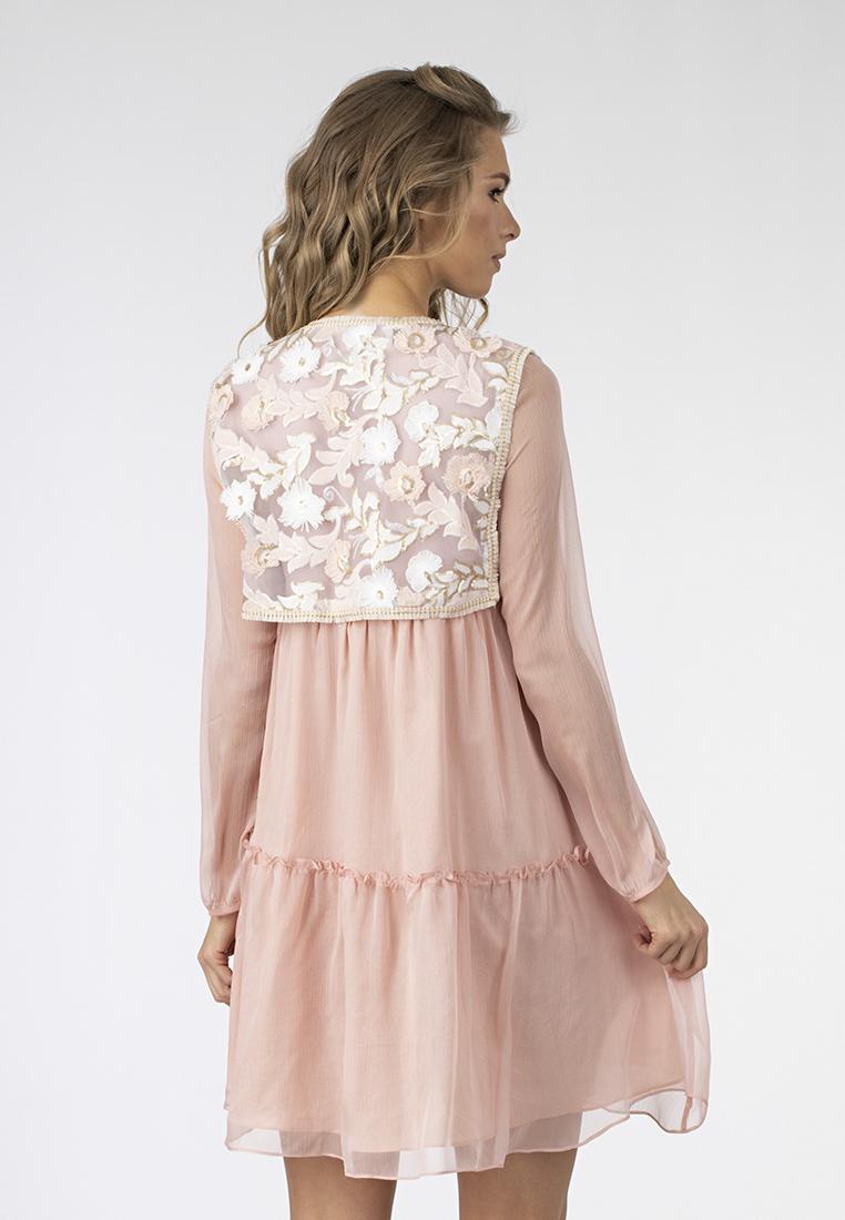 Платье c жилетом расшитым