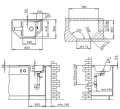 Мойка кухонная TEKA Stena 45-E - схема