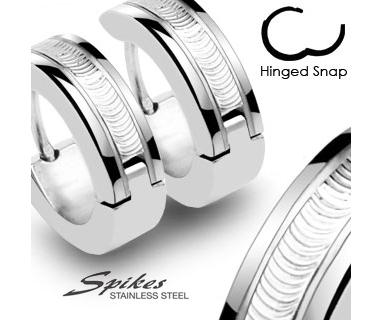 SSE-006 Стильные серьги «Spikes» из ювелирной стали, гравировка