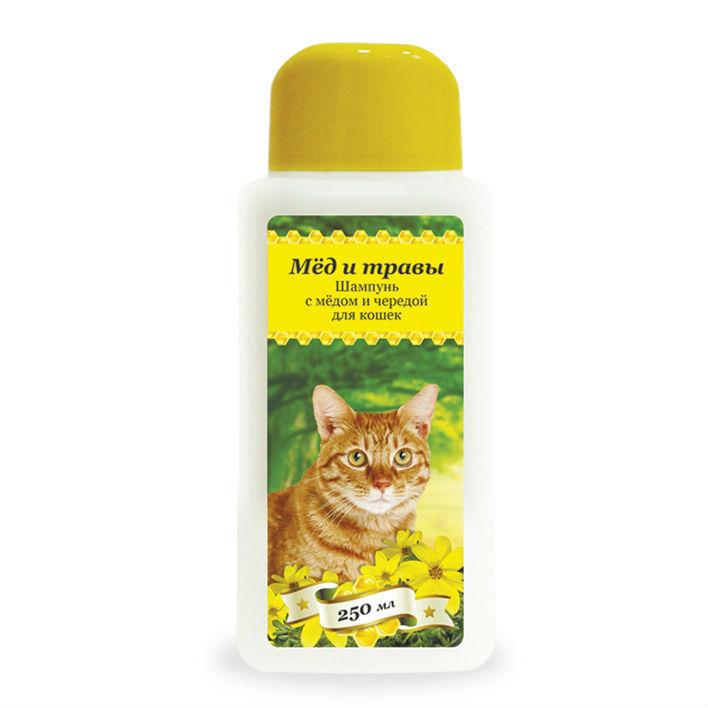 купить Пчелодар гигиенический шампунь с мёдом и чередой для кошек